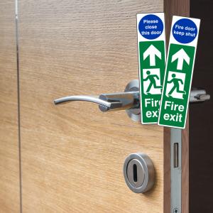 Door Plate Fire Exit Signs